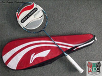 Wholesale badminton racquet Li Ning TI POWERTEC TP101C G3 blue color racket case strung