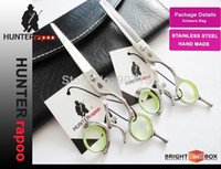 beauty razor - New Arrival INCH Professional Beauty Hair Salon Cutting Scissors Set razor Thinning Shears With a bag C Barber Scissor