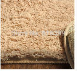 Wholesale cm cm thickness Fashion Living Dining Bedroom Car Flokati Shaggy Ivory Rug Anti skid Carpet Seatmat