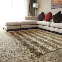 Wholesale x150cm Rectangle The fashion leopard print carpet coffee table floor mat cushion bedroom front carpet bathroom mat rug