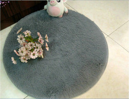 Wholesale Super cute sitting room bedroom circular Solid carpet Non slip fitness yoga mat computer chair cushion