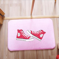 bedroom shoes - Coral velvet carpets Korean style floor mat shoes fashion originality living room bedroom front door mats home textile products