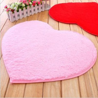 area rug cushion - Hot Sale Dimensions Heart Short Plush Shaggy Soft Carpet Area Rug Slip Resistant Floor Mat Cushion