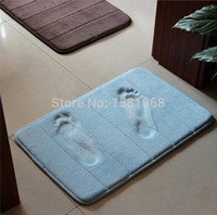 Wholesale Slow rebound memory foam mats waste absorbing slip resistant bath mat coral fleece mat doormat carpet