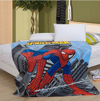 baby crib coverlets - new spiderman fleece blanket warm towelling coverlet single bedding sheet cover fur baby blankets spiderman X200CM