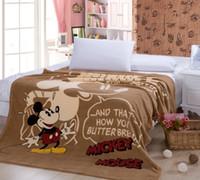 baby blanket pattern knit - Children Cartoon Coral Fleece Blanket for Spirng Autumn Baby Mickey Mouse Patterns Bedding Blanket cm Soft Bed Sheet
