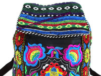 hippie bags - Tribal Vintage Hmong Thai Indian Ethnic Boho rucksack Boho hippie ethnic bag backpack bag small size SYS
