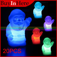 Wholesale Santa Claus LED Decor Color Changing Auto Colorful Light Lamp Party Night Xams Christ christmas Decoration Christmas Lights