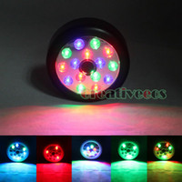 Wholesale Automatic Sound Voice Music Operated LEDs Sensitive Detector Wireless Sensor LED Light Lamp Black Multi Color