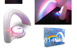 Wholesale Lucky Rainbow LED Bulbs Amazing Rainbow Projector Two Way Powered Table Lamp Accent Night Light Home Decor