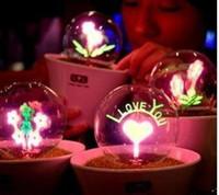 architectural fluorescent lighting - love Lamp LED table architectural Avatar mushroom lamp Ceramic base Energy saving Light