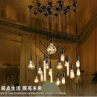 Wholesale Promotion V V Full Completely Set Edison Combined Chandelier Vintage Silk Lamp Light Bulbs Antique Lighting Bulbs