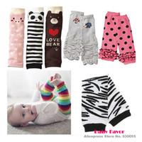 Cheap Wholesale-Free Shipping 1pc Baby Boy Girls Infant Toddler Kids Rainbow Zebra Leggings Socks Leg Warmers Football Casual Autumn Wear