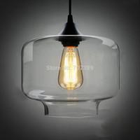 art glass candy - Clear Smoked Candy Jar Glass pendant lamp W Glass Blown Dia cm Pendant Light E27 Light Source
