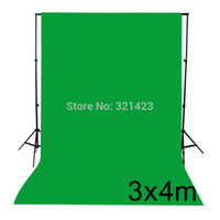 Wholesale NEW PHOTOGRAPHIC EQUIPMENT m x m Cotton Chromakey Green Screen Muslin Background Backdrop