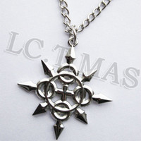 axel cosplay costume - Cosplay KINGDOM HEARTS Axel Chakrams Eternal Flames Charm Silver Color Necklace Chain