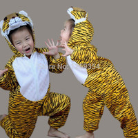 Cheap Wholesale-Animal Tiger Cartoon Character Performance Costumes For Children Kids Halloween Christmas Party Cosplay Costume