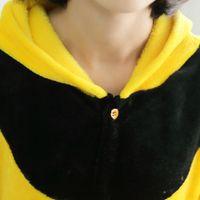 adult halloween customes - Halloween Cosplay Pajamas adult unisex Cartoon Sleepwear Animal Little Bee Honeybee Onesie Cosplay customes Easy toilet