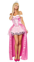 beauty girl games - Girl Sleeping Beauty Costumes For Adults Fairy Costume Women Party Cosplay Fancy Dress With Crown J1125