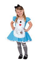 alice clothing - Cosplay Costume for Kids Blue beautiful toddler girls clothes Halloween wear little Alice Sets