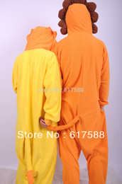 Wholesale Fleece Animal Cosplay Costume Pajams Pyjamas Unisex Adult Men Women Sleepsuit Sleepwear Cute Lion Onesie