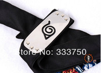 Wholesale Black Naruto Headband Shippuden Village Metal Plate Head Band Anime Cosplay Accessories