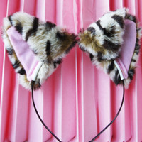Gros-nouveau chat mignon Fox Oreilles Costume long Fur Bandeau Anime Cosplay Party For Girls