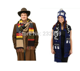 Wholesale-DR WHO 4TH Doctor Who Cosplay 12' DELUXE Tom Baker Striped TRADIS Scarf