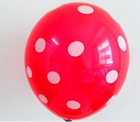Wholesale Inch Dot Pattern Latex Balloons polka dot balloons Celebration Birthday Party blue