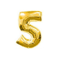 arabic numeral numbers - P1022 inch gold silver digit foil balloons the number birthday party decoration Arabic numerals event amp party supplies