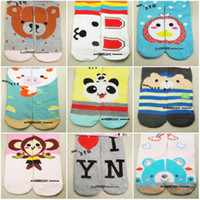 autumn puzzles - Retail girls cartoon socks AB puzzle socks