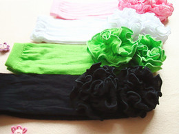 Wholesale Factory Price New Fashion pair Girl Leg Warmer With Ruffles Candy Colorful Lace Arm Warmers