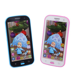 Wholesale-New Talking Masha and Bear Spanish Language Baby Mobilephone Electronic kid's Toy phone Learning & education