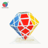 Wholesale Diansheng New White x3x3 Diamond Magic Cube Puzzle Speed Twist Skewb Rare Classic Brain Training Special Educational Toys