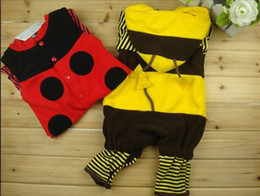Wholesale-cute Ladybug or bee model baby romper