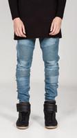 skinny jeans for men - Mens Skinny Jeans Men Runway Distressed Slim Elastic Jeans Denim Biker Jeans Hip Hop Pants Acid Washed Jeans For Men