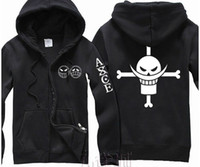 Wholesale New Anime One Piece Clothing Fire Fist Ace Hooded Sweatshirt Cosplay Hoodie Costumes