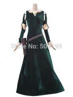 achat en gros de ainsi que des costumes taille femme halloween-Costume gros-Femme Princesse Merida Brave Merida Cosplay Dress Film / Film Party Costumes d'Halloween personnalisés Kids Plus Size