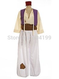 Wholesale Movie Men Prince Aladdin Character Cosplay Aladdin Costume Halloween Outfit Adult kids size