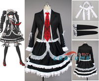 Wholesale Celestia Ludenberg Cosplay - Wholesale-Dangan Ronpa Danganronpa Celestia Ludenberg Uniform Long Sleeve Top Short Dress Anime Halloween Cosplay Costume