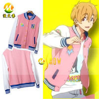 baseball jackets custom - Anime Free Iwatobi Swim Club Nagisa Hazuki Cosplay Jacket Unisex Baseball Coat Custom Size factory price and good quality