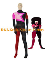 Wholesale DHL Garnet From Steven Universe Female Superhero Catsuit Cosplay Halloween Costume