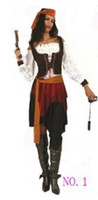Cheap Wholesale-Adult Hot Sale Various Fashionable Pirate Costumes For Cosplay Party free shipping