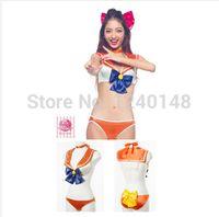 Wholesale Anime Sailor Moon Costume Cosplay Bra Set Swimsuits In Women s Sexy Bikini Underwear Moon Mars Venus Mercury Jupiter Costume