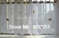 kitchen curtains - hot sale butterfly coffee curtains kitchen curtains semi shade window screening set cm