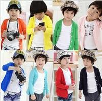 basic beige - Children s clothing classic child long sleeve cardigan long sleeve T shirt basic shirt c CC023N003