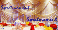 Wholesale Luxury wedding curtain with detachable drape and matching backdrop stand