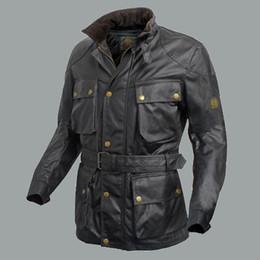 Al por mayor-2015 Nueva Marca acolchada chaqueta de doble capa de algodón encerado de espesor de la capa de los hombres con chaleco de algodón casual hombre Chaquetas moto desde chaquetas de los hombres de cera fabricantes