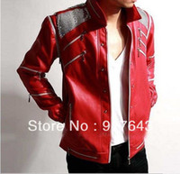 beat it jacket - Michael Jackson Beat it Leather Red Jacket Free Billie Jean Gift