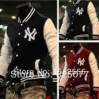 letterman jackets - Classic Unisex American Style Varsity Letterman University College Baseball Sports Jacket Coats